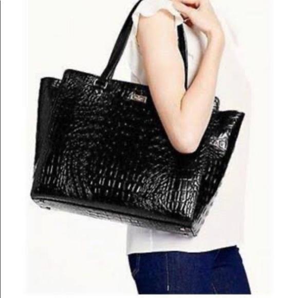 kate spade Handbags - Kate Spade| Elissa Bristol Drive Croc Leather Tote